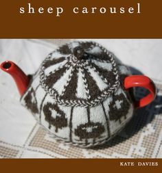 Shetland Sheep Carousel Tea Cozy by Kate Davies - Jamieson and Smith, Real Shetland Wool, Fair Isle Knitting, Shetland Wool, Knitting Patterns.