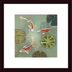 Aleah Koury 'Floating Motion II' Small Wood-Framed Art Print