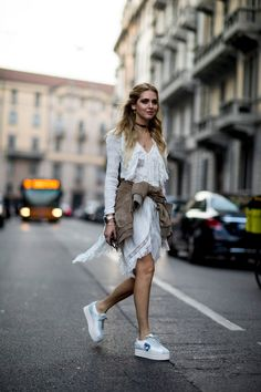 Breezy LWD + Platform Sneaks - What the Stylish Girls Will Be Wearing This Spring - Photos