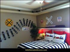 train theme bedroom ideas-transportation bedroom decorating ideas