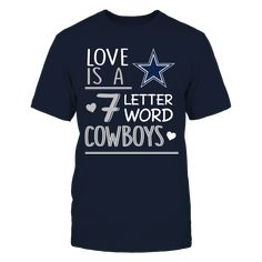 Check this Dallas Cowboys Seven letter word Gift Trending Design T Shirt . Hight quality products with perfect design is available in a spectrum of colors and sizes, and many different types of shirts! Dallas Cowboys Outfits, Dallas Cowboys Football, Fan Shirts, Types Of Shirts, Design Trends, Fans, Delivery, United States, Lettering