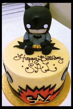 Super cute baby batman cake