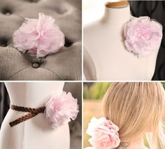 tutorial for extra large chiffon flower pin