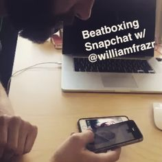 Multi-device snap beats with @williamfrazr AKA Friday night at the office