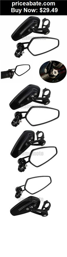 """Motors-Parts-And-Accessories: Universal Black Motorcycle Billet Aluminum 7/8"""" Bar End Side Rearview Mirrors - BUY IT NOW ONLY $29.49"""