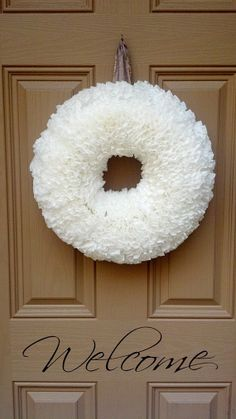 Large Winter White Coffee Filter Wreath...Perfect by 3KidsInACabin, $21.98