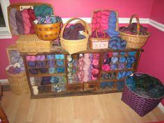 Yarn Karma's yarn room