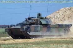 Leclerc main battle tank heavy armoured data sheet specifications description pictures video