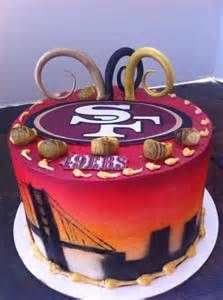 49ers cakes...that's cool!! Wedding Cakes With Cupcakes, Cupcake Cakes, Beautiful Cakes, Amazing Cakes, 49ers Cake, Bachelor Cake, Birthday Cake Pictures, Birthday Ideas, Gingerbread Cupcakes