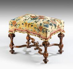 Antique William & Mary stool (England)