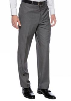 Calvin Klein Charcoal Tic Slim Fit Charcoal Neat Suit Separate Pants