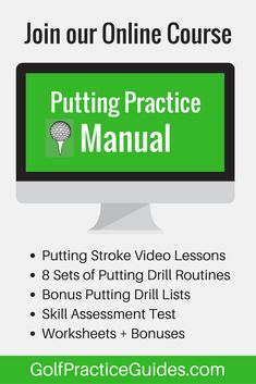 We've opened up our online course for golfers seeking to improve their putting skills. Inside you'll find lots of putting drills, tips, lessons, worksheets, and more to help your golf short game improve so you stop 3 putting, feel more confident on the green, and know exactly what putting drills to practice when creating a golf practice routine. Click the link to learn more about this online course for golfers. #PuttingTipsDude #TipsForImprovingYourGolfGame