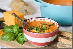 Tomato, Basil, and Cheddar soup. Mmmm