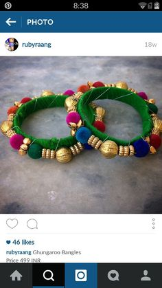 More ghungroo bangle ideas for mehendi