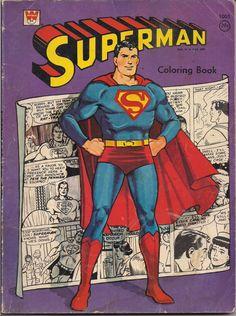 DC Comics SUPERMAN Coloring Book 1966 Whitman NPP National Periodical Publications
