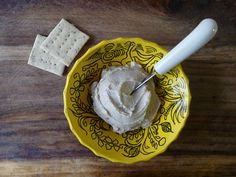 Simple Cashew Cheese Spread--After trying a delicious cashew cheese spread at R. Thomas Deluxe Grill in ATL this weekend, I'm dying to make my own.