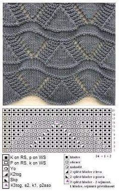 Weste - Stricken The Effective Pictures We Offer You About knitting techniques hacks A quality picture can tell you many things. You can find the most beautiful pictures that can be Lace Knitting Stitches, Lace Knitting Patterns, Knitting Charts, Knitting Designs, Baby Knitting, Stitch Patterns, Knitting Machine, Knit Crochet, Crochet Granny