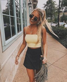 Super Spring Outfits To Summer Fashion That Always Looks Fantastic Cute Summer Outfits, Cute Casual Outfits, Spring Outfits, Tumblr Summer Outfits, Summer Outfits For Vacation, Londoner Mode, Mode Outfits, Fashion Outfits, Insta Outfits