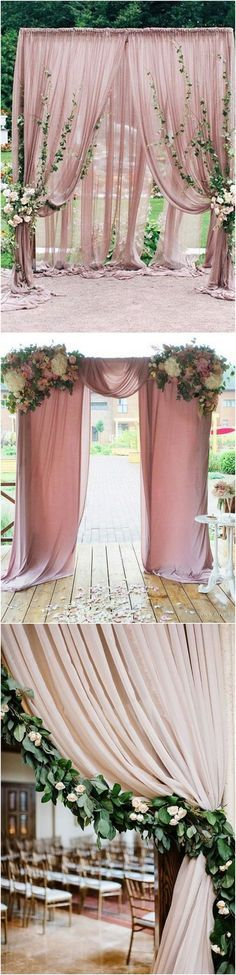 dusty rose wedding arch decoration ideas