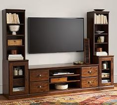 Pieces Of Cube Organizer Tv Stand Living Rooms Entertainment Center 65 46 + Important pieces of Cube Organizer Tv booth Living Rooms Entertainment Center 65 Pottery Barn, Large Tv Stands, Living Room Entertainment Center, Cube Entertainment, Tuscan Design, Family Room Design, Living Room Tv, Interior Barn Doors, Repurposed Furniture