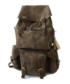 Handmade Superior Crazy Horse Leather Backpack Travel Bag