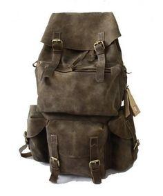 Handmade Large Superior Crazy Horse Leather Backpack Travel Bag