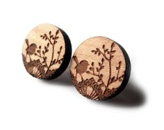 That Vintage Dainty Wren - Earrings - Tasmanian Myrtle