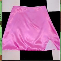 O-Mighty Pink Silk Kitten Skirt Silk kitten skirt Skirts