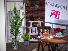 A new tiny Apartment by Simberry  / Sims 3 / Download / Starter home / Bridgeport