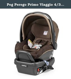 Peg Perego Primo Viaggio 4/35 Infant Car Seat in Brown. The rear-facing Peg Perego Primo Viaggio 4/35 is purposely designed to keep babies 4-35 lbs. safe and comfortable on car rides thanks to its Dual Stage Cushion System, innovative base with Right Tight System, plus SIP Side Impact Protection. Product Features: Shell is lined with perforated, energy-absorbing EPS foam for safety and maximum air circulation Side Impact Protection (SIP) is adjustable to 6 different positions with no...