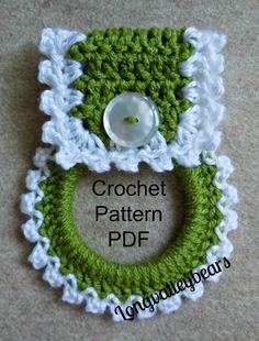 Crochet cucina asciugamano titolare Pattern, modello per rendere il tuo Portasciugamani cucina