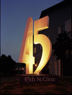 SEGD Member Michael Courtney Design's 45th Street Clinic project. #SEGD