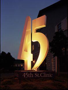 SEGD Member Michael Courtney Design's 45th Street Clinic project. #SEGD
