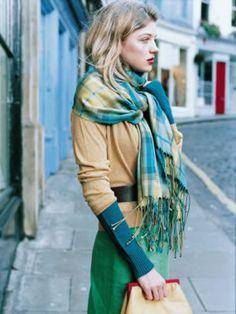 frileuses vert bleu esthetique le style de mode hijab pour les accros la mode tartan chle charpe carreaux plaid de tartan tartan vert
