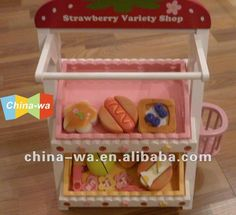Wood Food Shop Toy Set For Children Pretend Play - Buy Food Shop,Shop Display,Wood Strawberry Toy Product on Alibaba.com