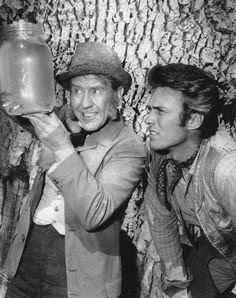 """Burgess Meredith Legacy / Rawhide: - """"The Little Fishes. John Lloyd Young, Special Pictures, Little Fish, Clint Eastwood, The Man, Cowboy Hats, Couple Photos, Instagram Posts, Couple Shots"""