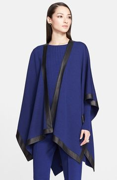 St. John Collection Leather Border Milano Knit Wrap available at #Nordstrom