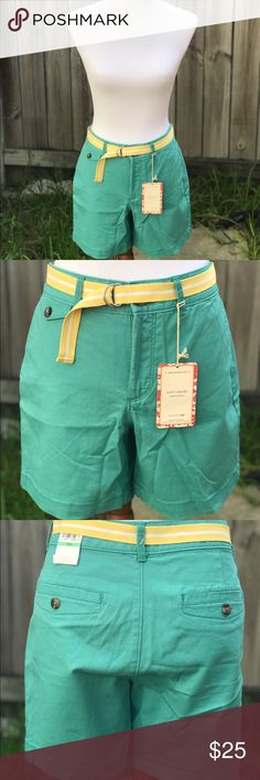 Dockers Teal Soft Shorts I love these shorts! They are unbelievably soft and flattering. Perfect for the beach or shopping on a hot day. BRAND NEW with tags! Size 8 and fit comfortably. (They are clipped back in the photo to show where they sit) Ships next day! Dockers Shorts Cargos