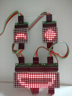 This instructable shows how to control an array of 8x8 LED matrices using an Arduino Uno. This guide might be used to create a simple (and relatively cheap display)...