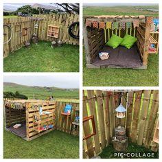 Pallet Playground, Backyard Playground, Backyard For Kids, Eyfs Outdoor Area, Outdoor Play Areas, Outdoor Fun, Outdoor School, Outdoor Classroom, Preschool Room Layout