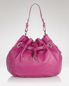 Fun. Great color. Cole Haan Ellie #Handbag #Drawstring_Bag #Cole_Haan