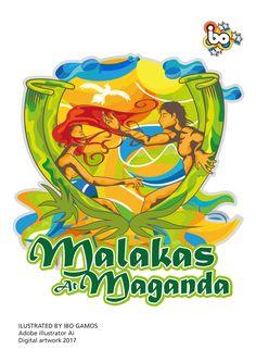 malakas at si maganda digital artwork using illustrator Ai Philippine Mythology, Pinoy, Filipino, Adobe Illustrator, Digital, Illustration, Artwork, Projects, Fictional Characters