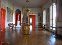 charlottenhof palace, interior, sanssouci park, potsdam, karl friedrich schinkel