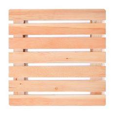 Pedana doccia 68x68 con assi in legno larice ideale per piatto doccia 90x90