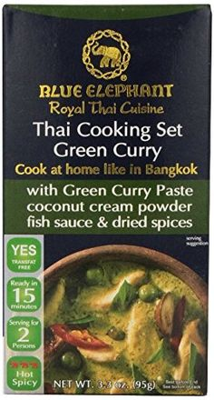 Blue Elephant Thai Cooking Set Green Curry 95 G * Read More Reviews Of The  Product