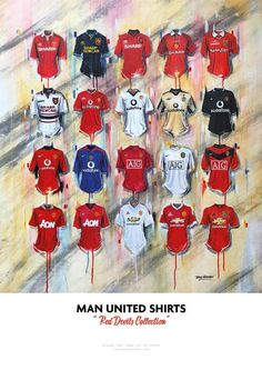Man United Shirts - A Red Devils Collection Manchester United Football Kit, Manchester United Shirt, Manchester United Wallpaper, Arsenal Jersey, Cristiano Ronaldo Wallpapers, One Punch Man Manga, Premier League Teams, Dope Cartoon Art, Sports Wallpapers