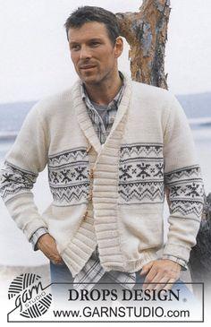 """DROPS Vest met sterrenpatroon van """"Alaska"""" en """"Alpaca"""". Maat 12/14 jaar - XXL. ~ DROPS Design"""