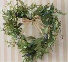 Heartshaped Spring Wreath Berries and by SilkEleganceFlorals, $32.95