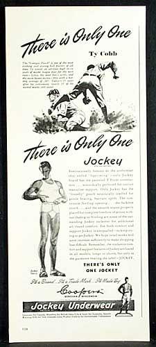 003f7f34c941 Ty Cobb, Jockey underwear Vintage Advertisements, Vintage Ads, Baseball  Players, Underwear,