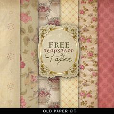 FREE Freebies Vintage Background Kit by Far Far Hill
